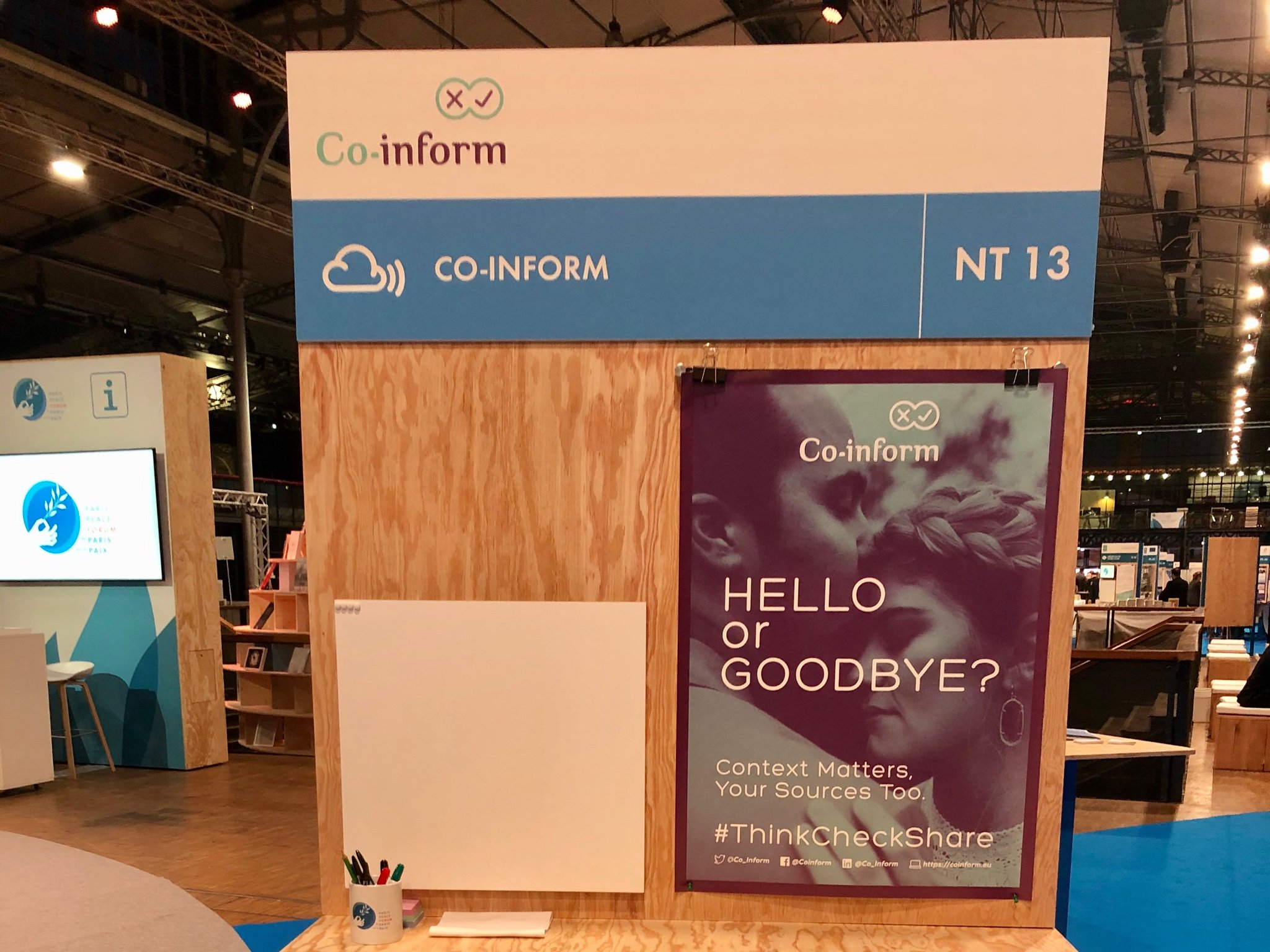 Co-Inform stand at the Paris Peace Forum
