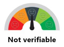 Metric not verifiable